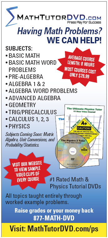 Math Tutor DVD Print Ad
