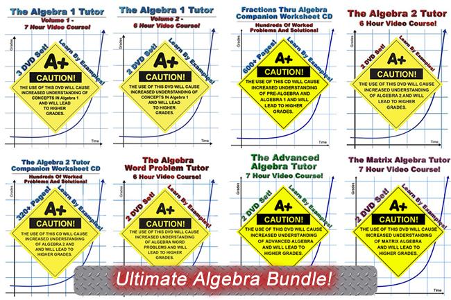 Ultimate Algebra Bundle! -- Save 10%!