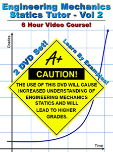 Engineering Mechanics Statics - Vol 2, 6 Hour Course