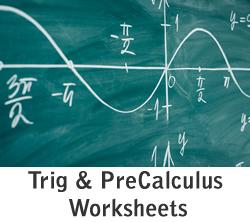 Trig And PreCalculus Vol 2 Worksheets