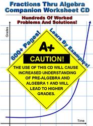 math worksheet : fractions thru algebra companion worksheet cd : Math Tutoring Worksheets
