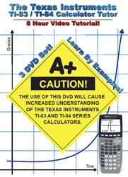 The TI-84 / TI-83 Calculator Tutor -- 8 Hour Course