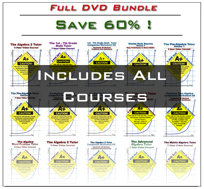Supersaver Math & Physics DVD Bundle(2-Payment Flex-Pay)