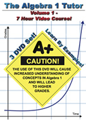 The Algebra 1 Tutor: Volume 1 -- 7 Hour Course!